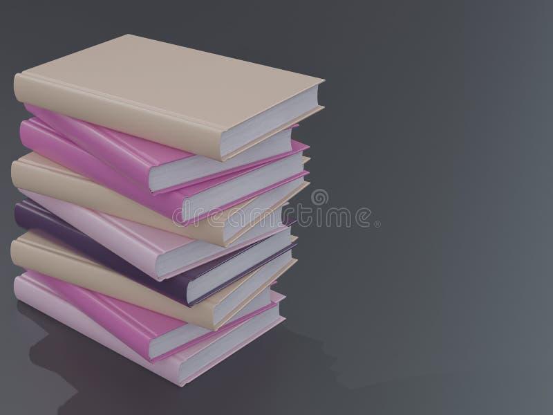 Leeg het modelmalplaatje van het kleurenboek op zwarte achtergrond stock foto