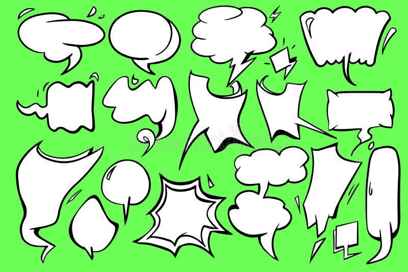 Leeg het pictogram grafisch vectorontwerp van de toespraakbel met groene achtergrond royalty-vrije stock foto's