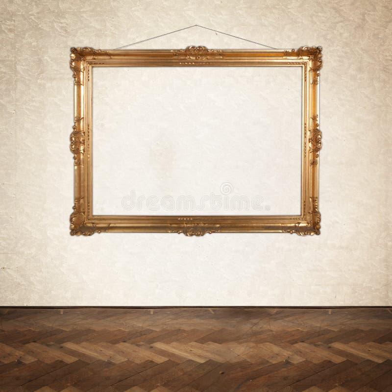 Leeg het schilderen kader op de muur royalty-vrije stock fotografie