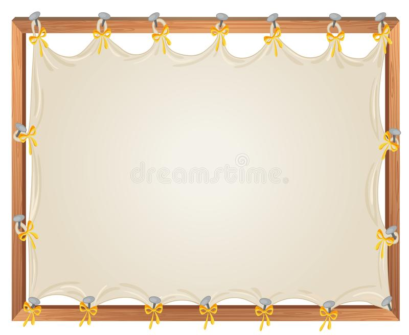 Leeg houten bannermalplaatje royalty-vrije illustratie