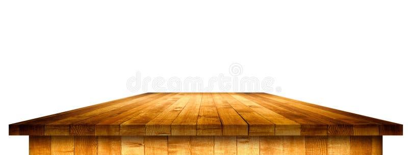 Leeg houten lijstperspectief met het knippen van masker stock afbeelding