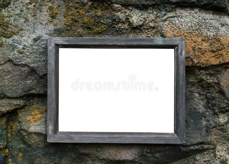 Leeg houten uithangbord royalty-vrije stock foto's