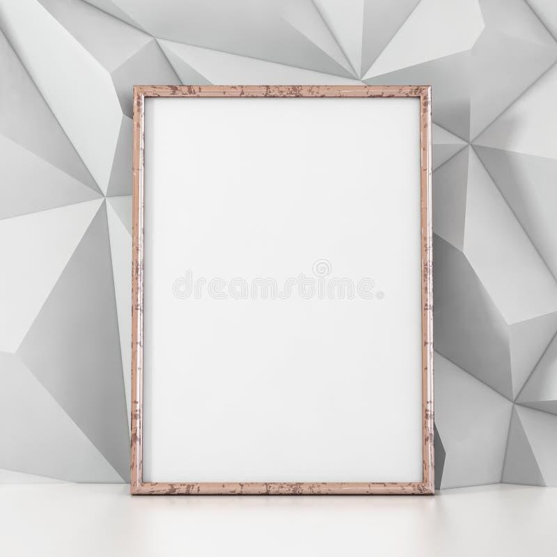 Leeg kader op witte achtergrond - 3D illustratie royalty-vrije illustratie