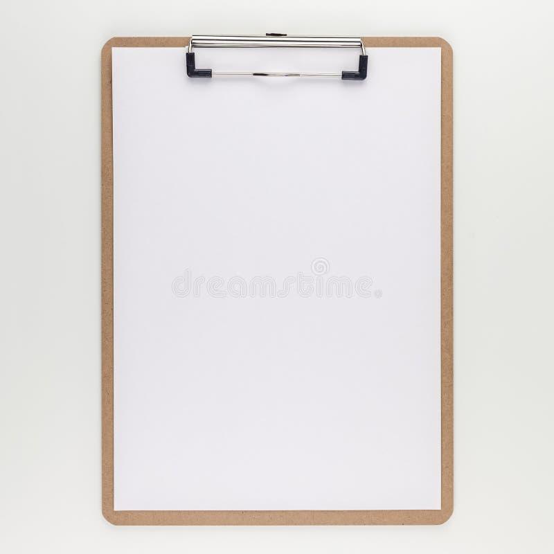 Leeg klembord met exemplaar ruimtespot op malplaatje royalty-vrije stock foto's