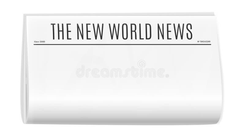 Leeg krantenmalplaatje royalty-vrije illustratie