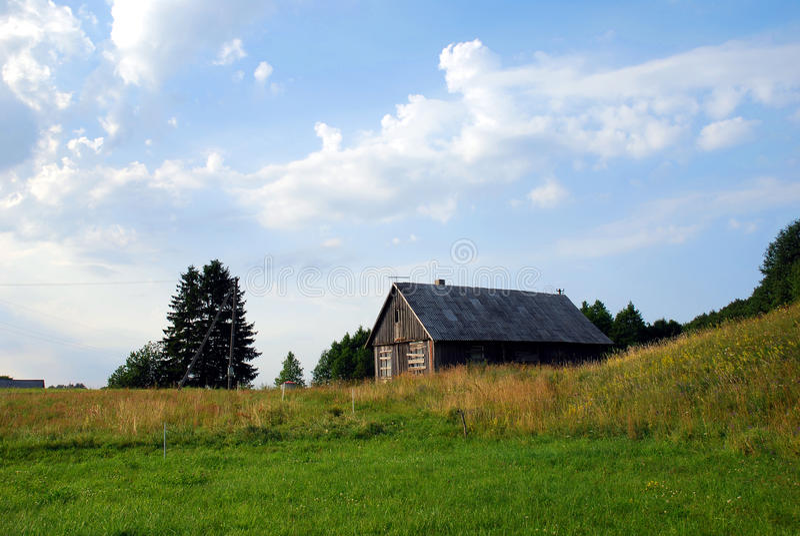Leeg landelijk huis stock afbeelding