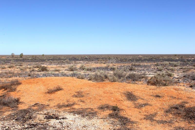 Leeg landschap in de Australische woestijn royalty-vrije stock afbeeldingen