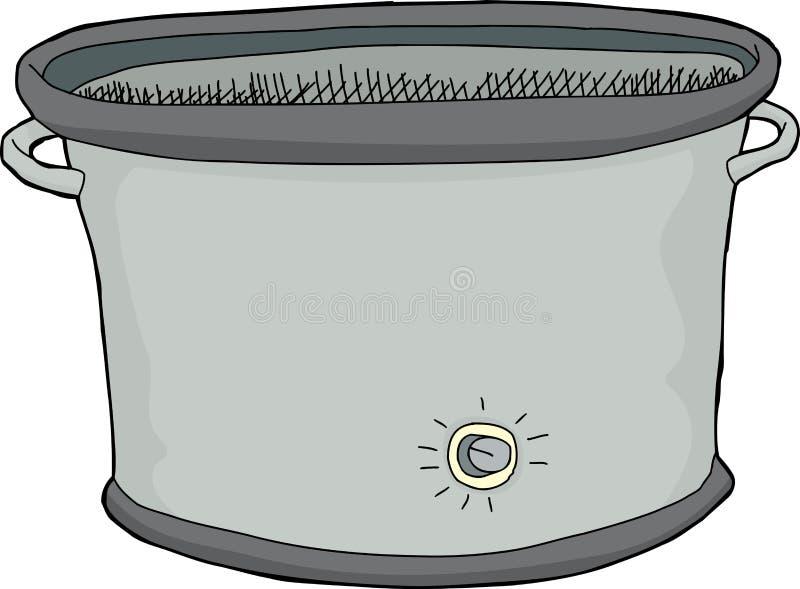 Leeg Langzaam Kooktoestel stock illustratie