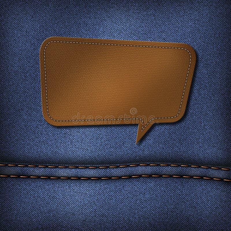 Leeg leeretiket op jeans royalty-vrije illustratie