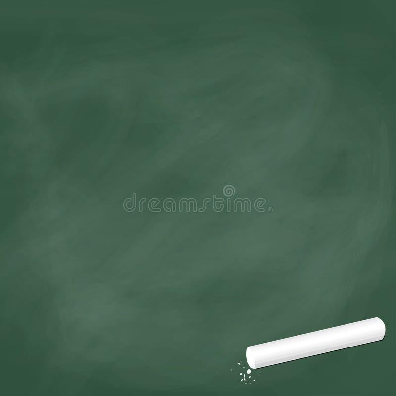 Leeg leibord groen met krijt royalty-vrije illustratie