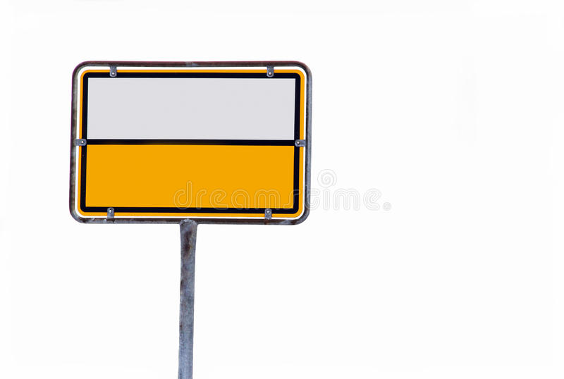 Leeg lokaal teken royalty-vrije stock afbeelding