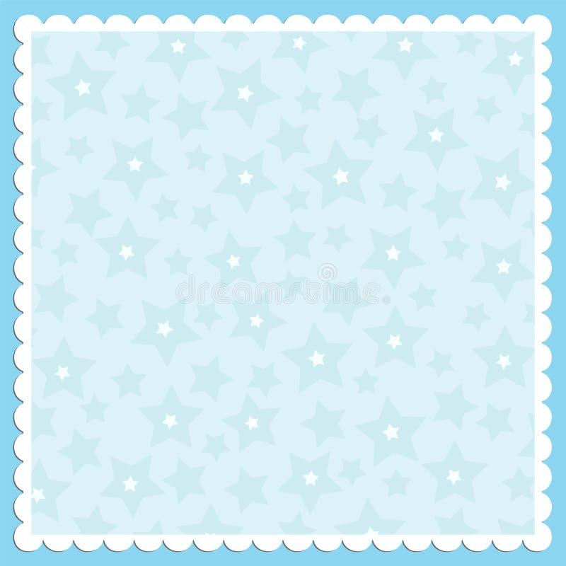 Leeg malplaatje voor groetenkaart vector illustratie