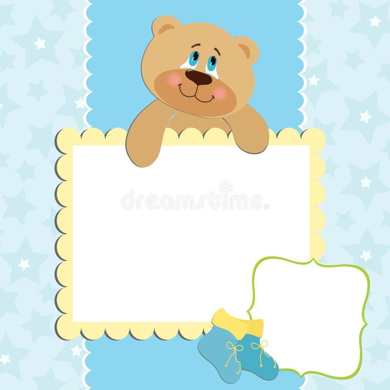 Leeg malplaatje voor groetenkaart stock illustratie