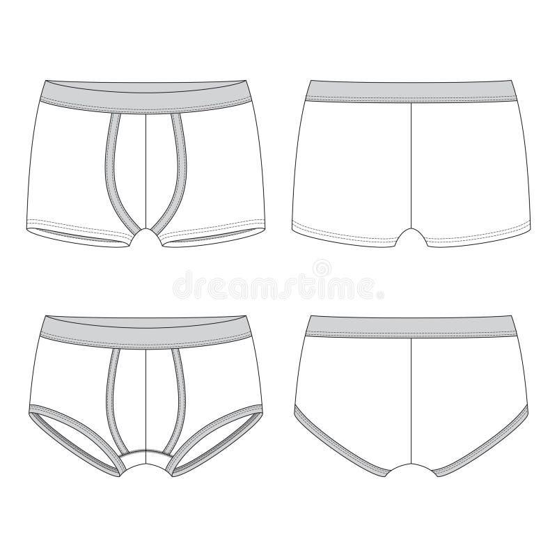 Leeg mannelijk ondergoed stock illustratie
