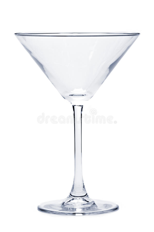 Leeg martini glas stock fotografie