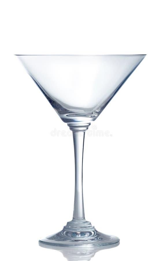 Leeg martini glas stock foto's