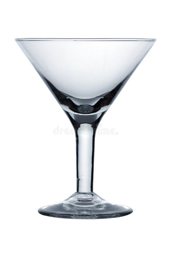 Leeg martini glas royalty-vrije stock fotografie