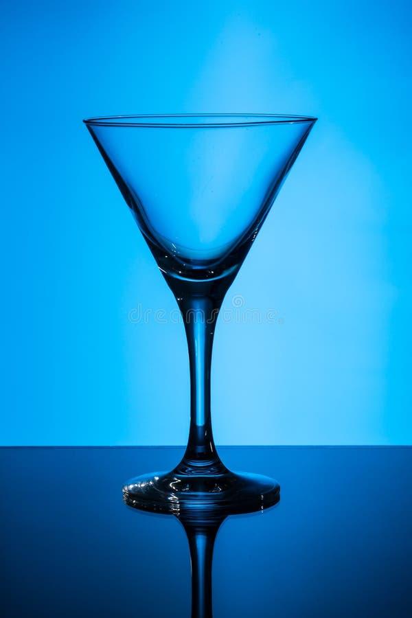 Leeg martini glas stock foto