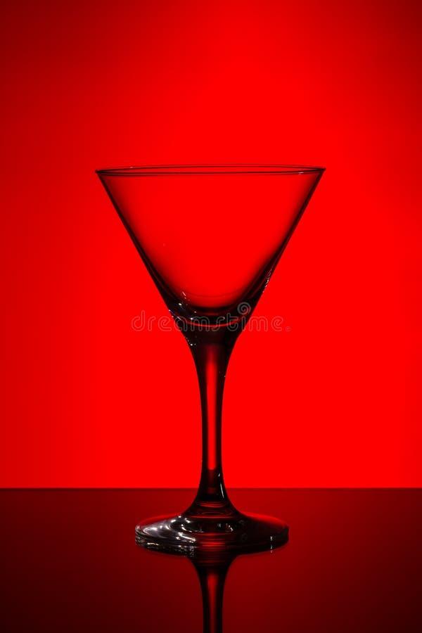 Leeg martini glas royalty-vrije stock foto's