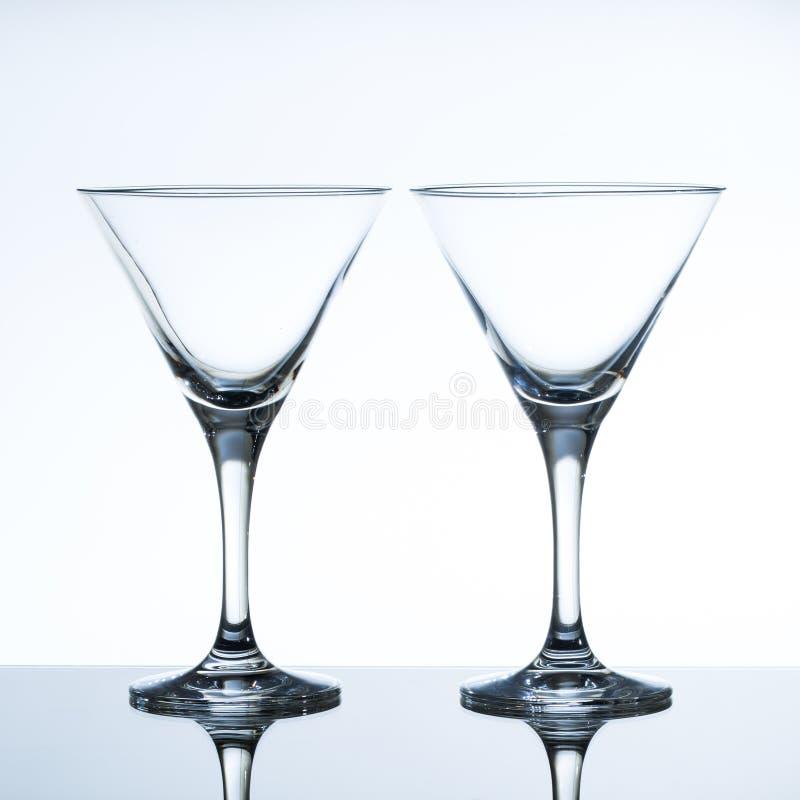 Leeg martini glas royalty-vrije stock foto