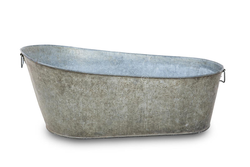 Leeg metaal bathtube royalty-vrije stock afbeeldingen