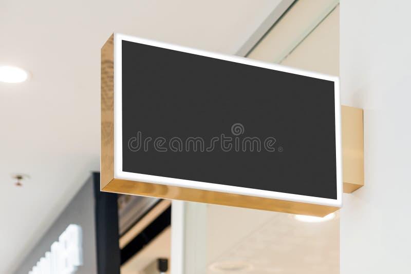 Leeg modern winkelsignage model stock afbeeldingen