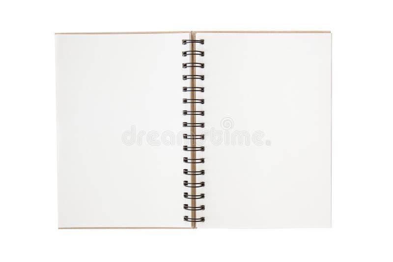 Leeg notitieboekje met lege plaats voor tekst en nota's royalty-vrije stock foto's