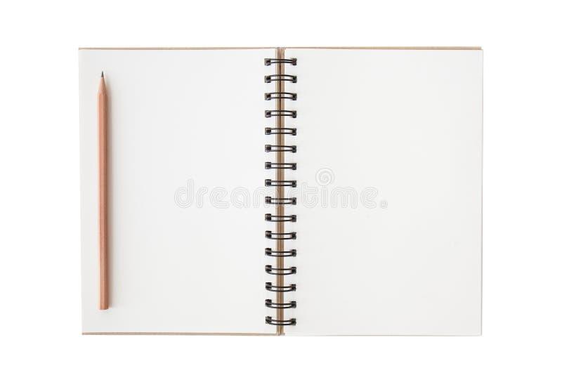Leeg notitieboekje met lege plaats voor tekst en nota's royalty-vrije stock afbeelding