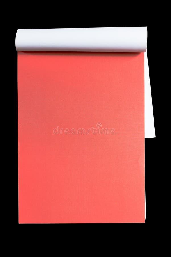 Leeg notitieboekje op zwarte achtergrond royalty-vrije stock afbeelding