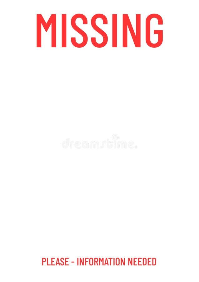 Leeg ontbrekend affichemalplaatje royalty-vrije illustratie