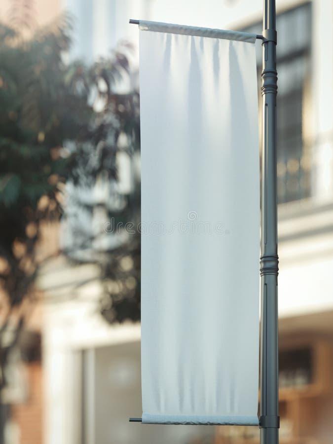 Leeg op een hoger niveau weergevenmodel Leeg Affichemalplaatje Straatteken, signage, het 3d teruggeven stock fotografie