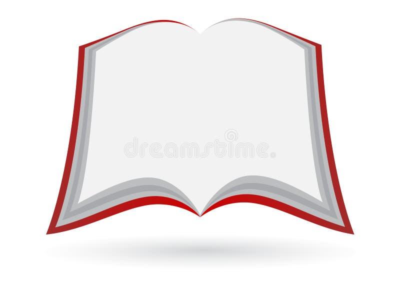 Leeg open boek royalty-vrije illustratie