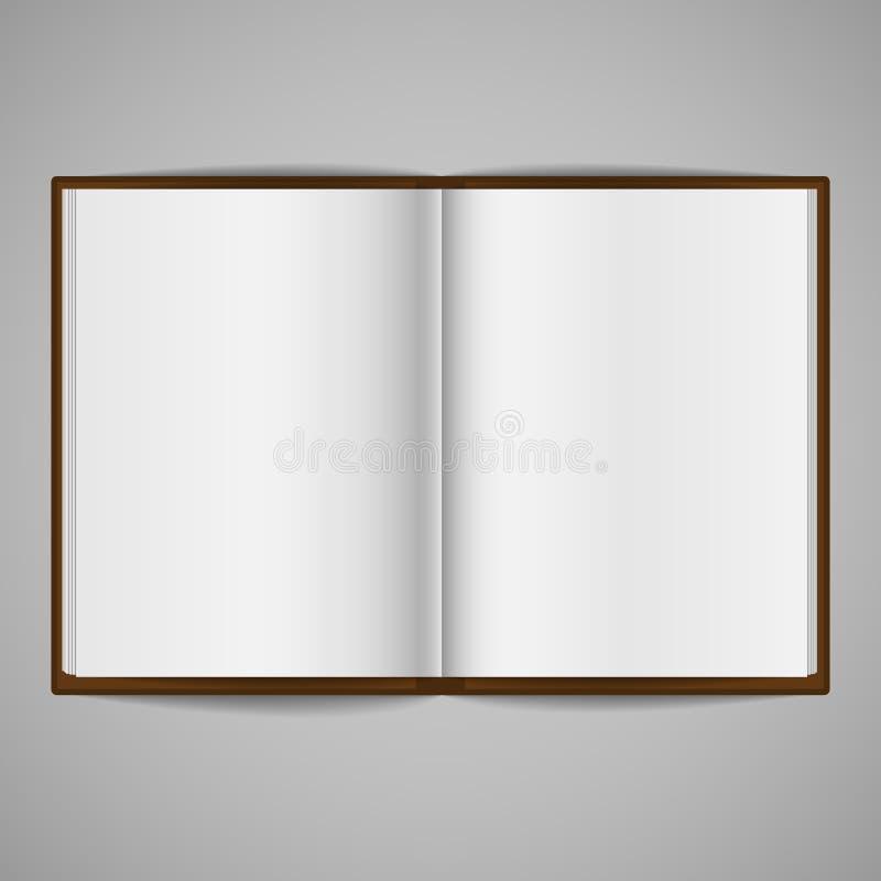 Leeg Open Boek vector illustratie