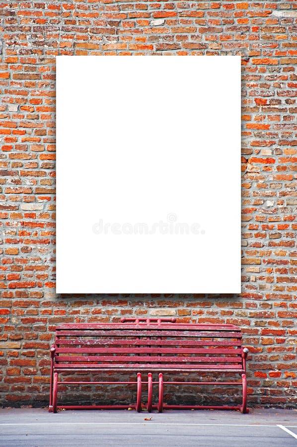 Leeg openlucht reclameaanplakbord royalty-vrije stock afbeelding