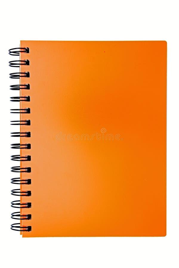 Leeg oranje rings bindend boek stock fotografie