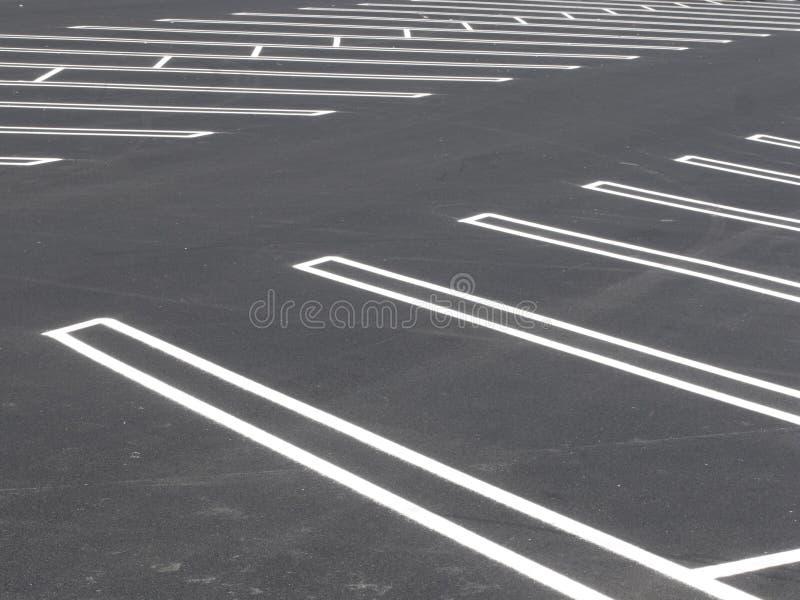Leeg parkeerterrein royalty-vrije stock foto