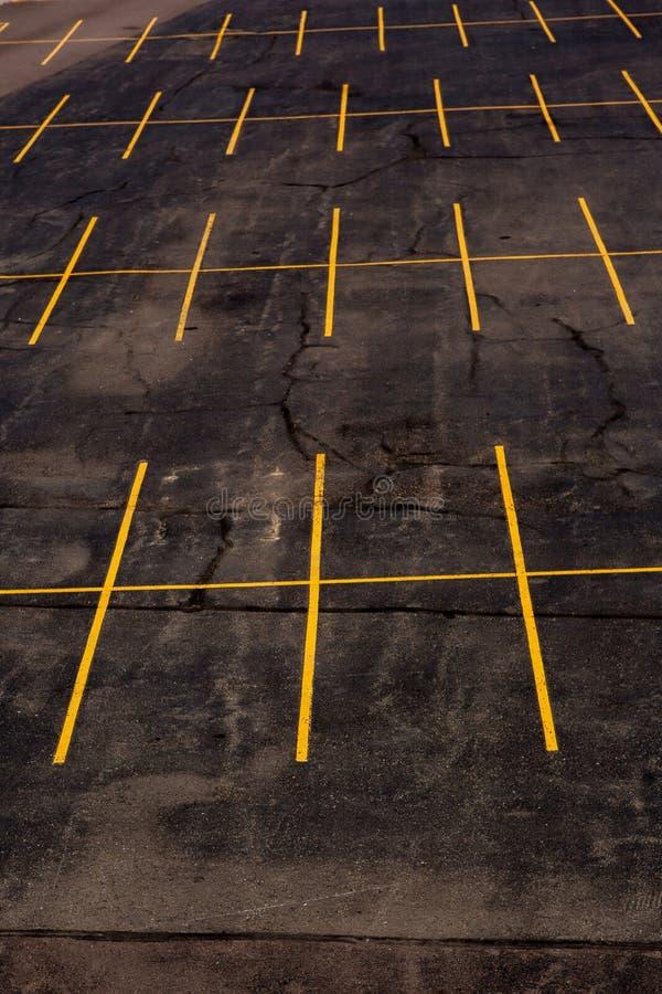 Leeg Parkeerterrein royalty-vrije stock afbeeldingen
