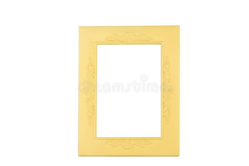 Leeg plastic die kader op wit, tekstruimte wordt geïsoleerd royalty-vrije stock fotografie