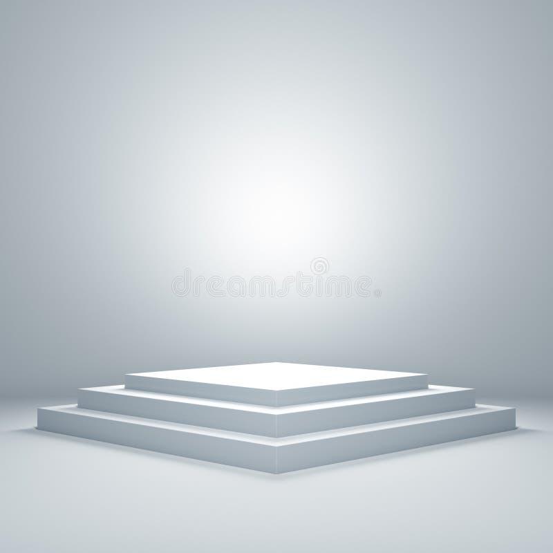 Leeg podium vector illustratie