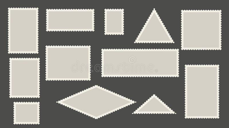 Leeg postzegelsmalplaatje vector illustratie