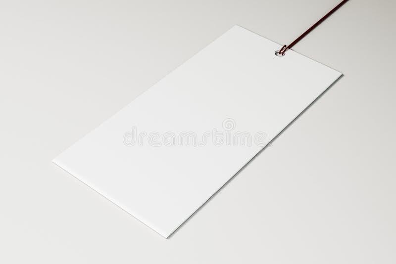 Leeg Prijskaartje vector illustratie