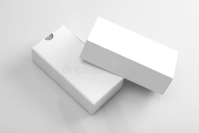 Leeg Product die Open Doos voor Onecht UPS verpakken stock foto's