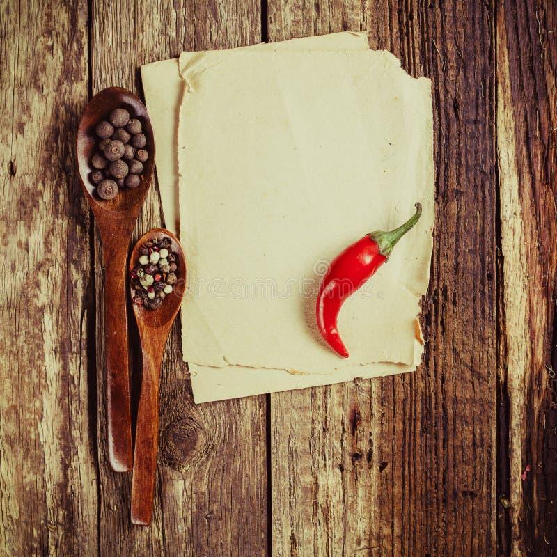 Leeg recept stock afbeelding