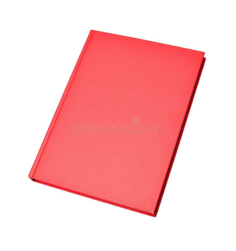 Leeg rood hardcoverboek stock afbeelding