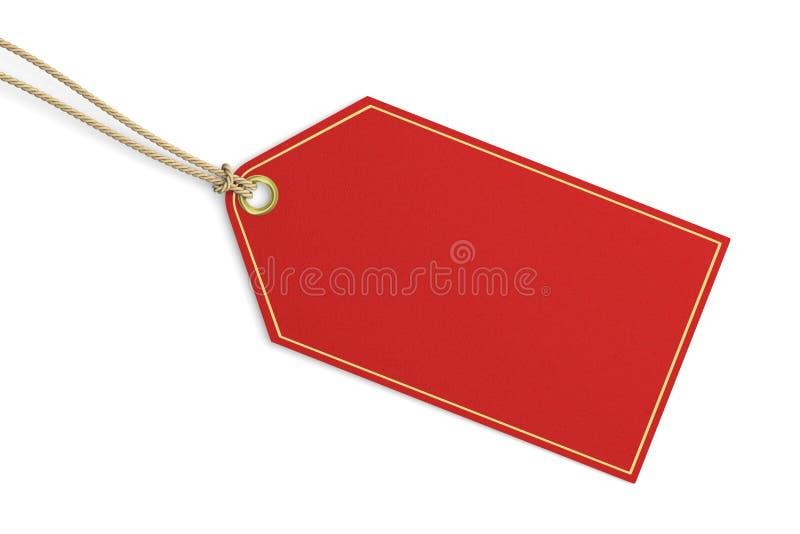 Leeg rood prijskaartje royalty-vrije illustratie