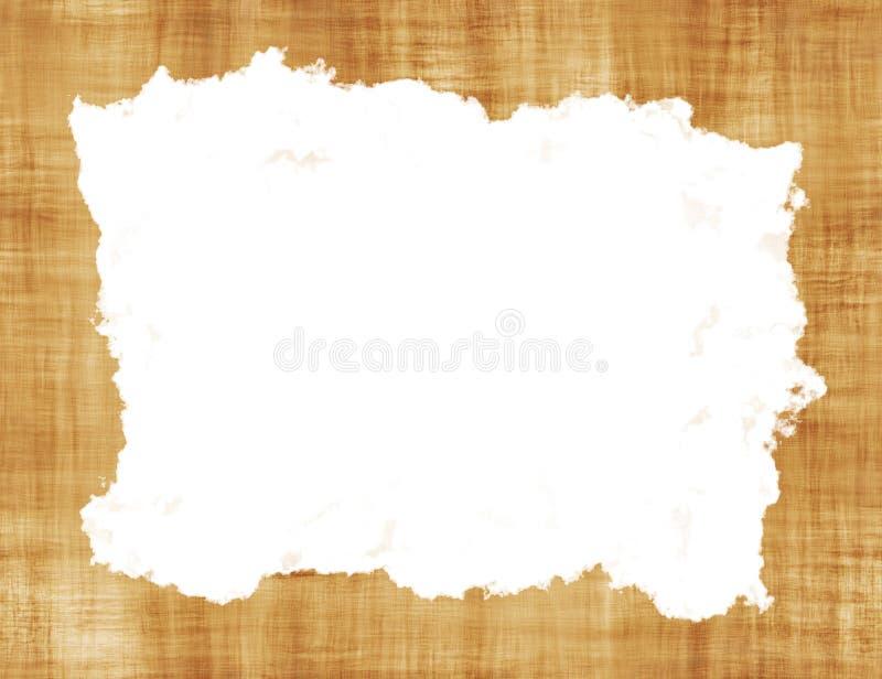Leeg Rusty Vintage Paper Frame Texture met Wit Venster royalty-vrije stock afbeelding