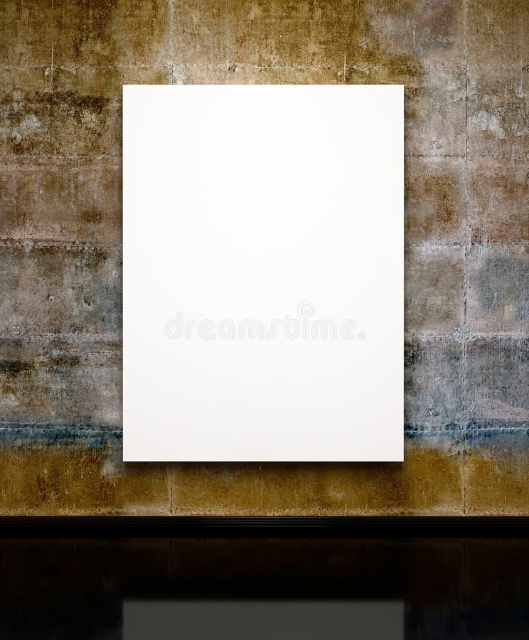 Leeg schilderijenframe op de grungemuur stock illustratie