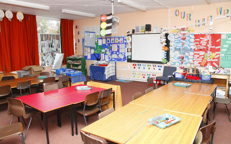 Leeg schoolklaslokaal royalty-vrije stock afbeeldingen