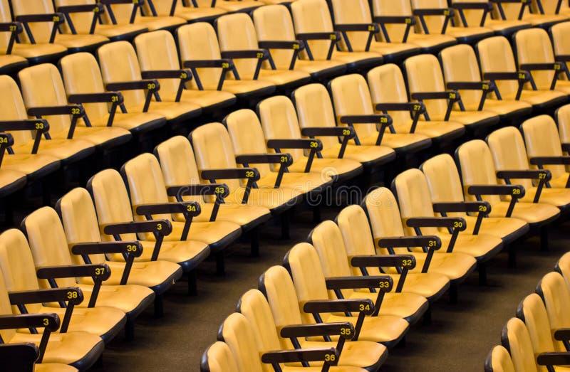 Leeg Seminarie Seat. royalty-vrije stock fotografie