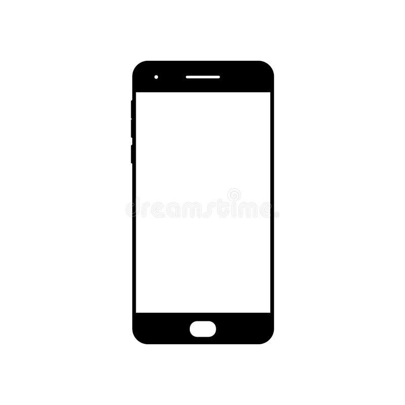 Leeg smartphonepictogram Het symbool van de celtelefoon Mobiel gadget, PDA-malplaatje vector illustratie